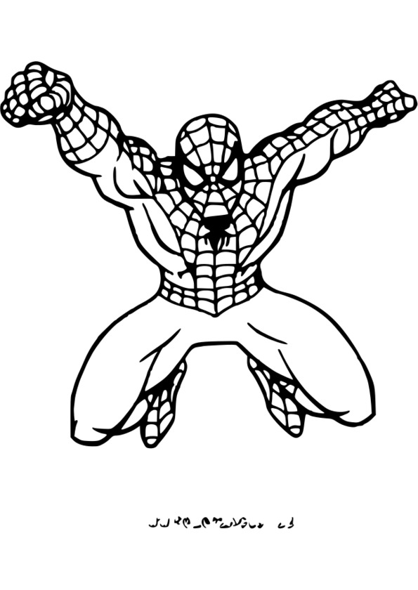 coloriage spiderman vrac