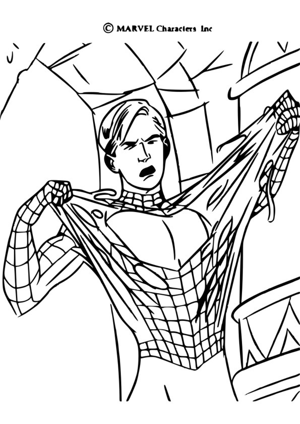 coloriage spiderman pdf