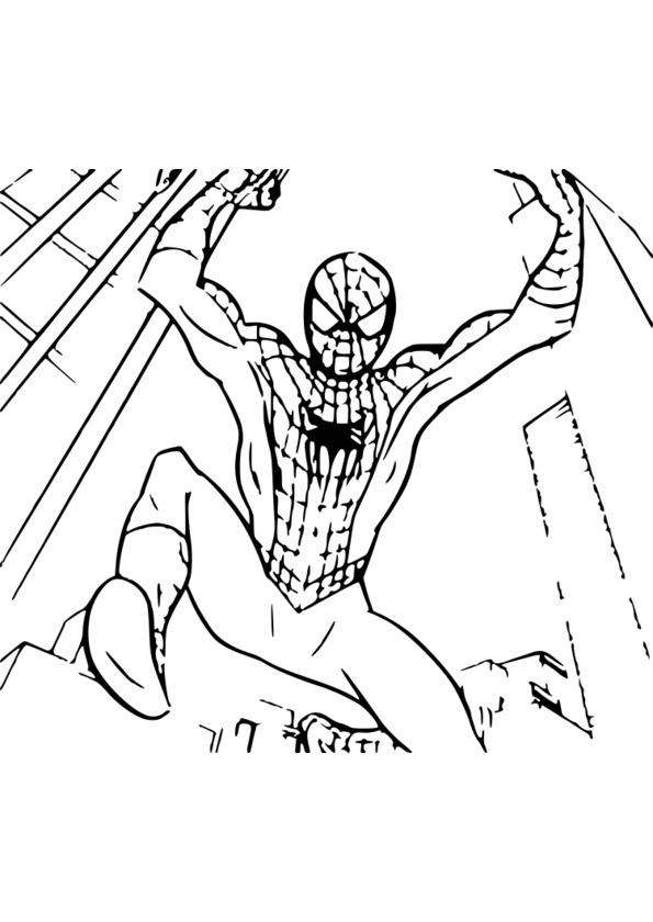 Coloriage magique spiderman - Coloriage en ligne spiderman et batman ...