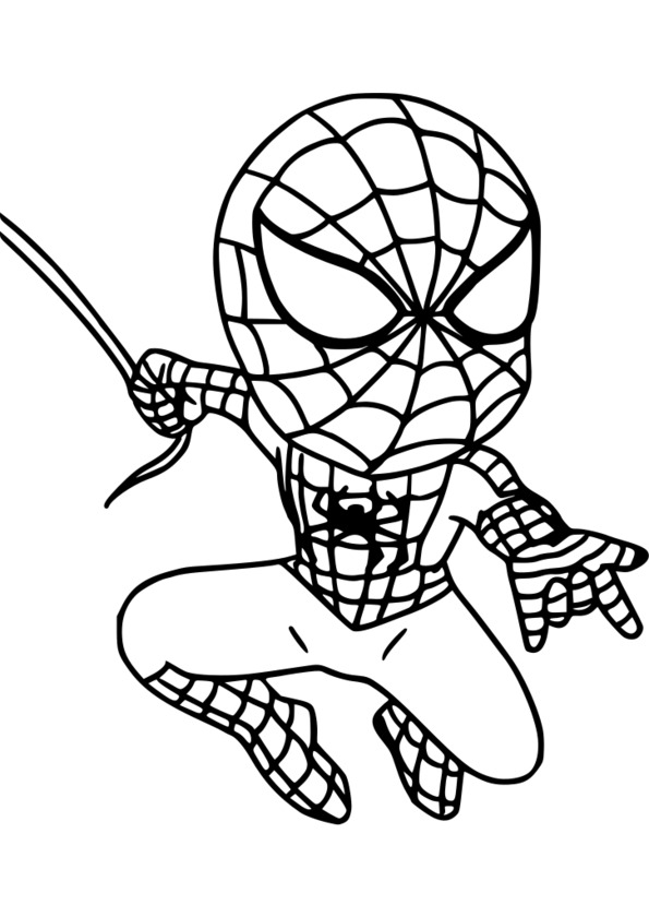 coloriage spiderman lezard