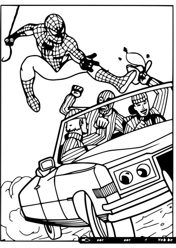 coloriage spiderman debout