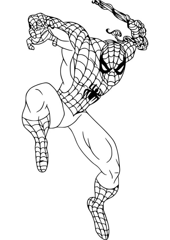 coloriage imprimer spiderman 4
