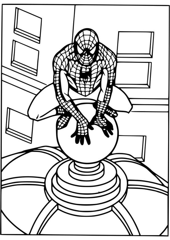 coloriage spiderman à imprimer gratuit