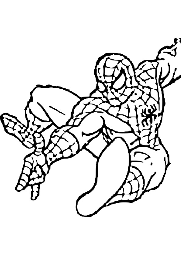 Coloriage spiderman vrac - Coloriage personnage spiderman ...