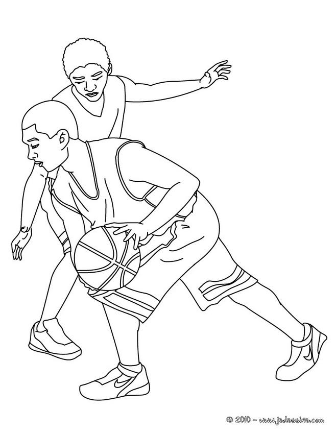 18 dessins de coloriage sport basket imprimer - Dessin basket ...