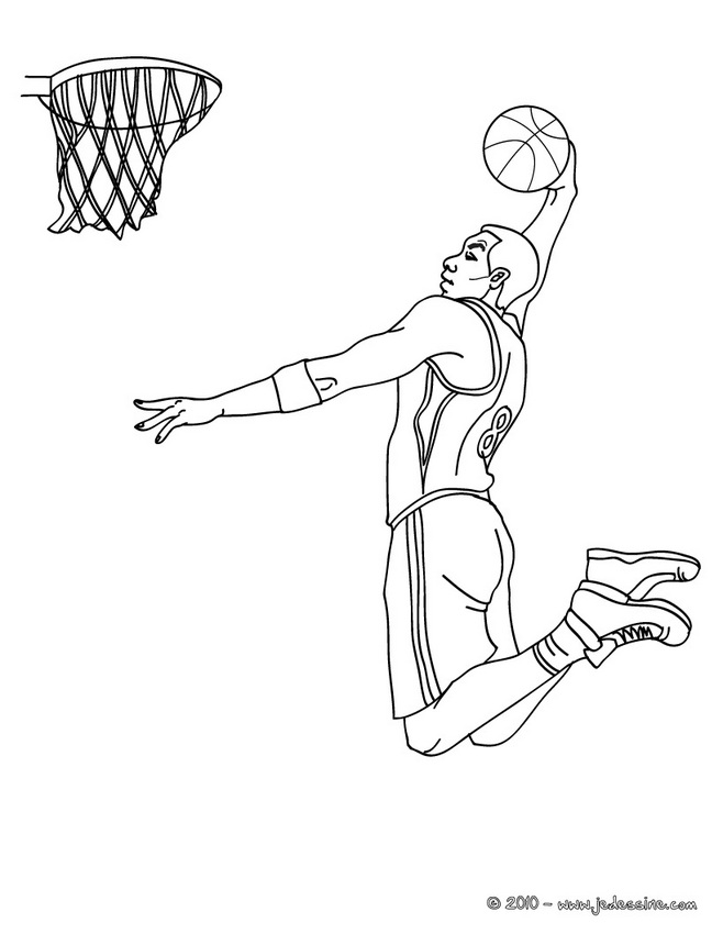 Line Drawing Basketball : Dessins de coloriage sport basket à imprimer