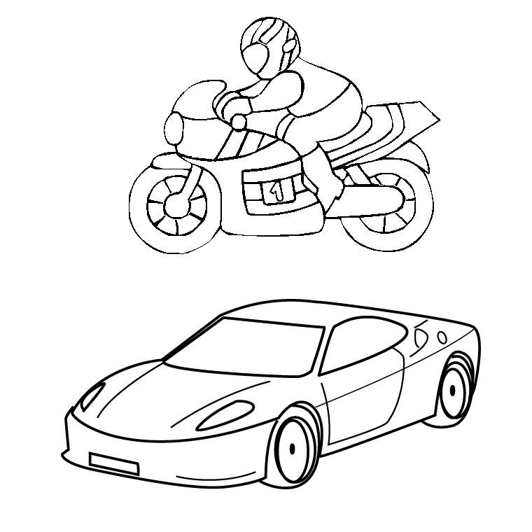 19 dessins de coloriage sport gratuit imprimer - Moto a imprimer pour colorier ...