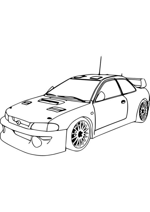 dessin voiture de sport a imprimer gratuit