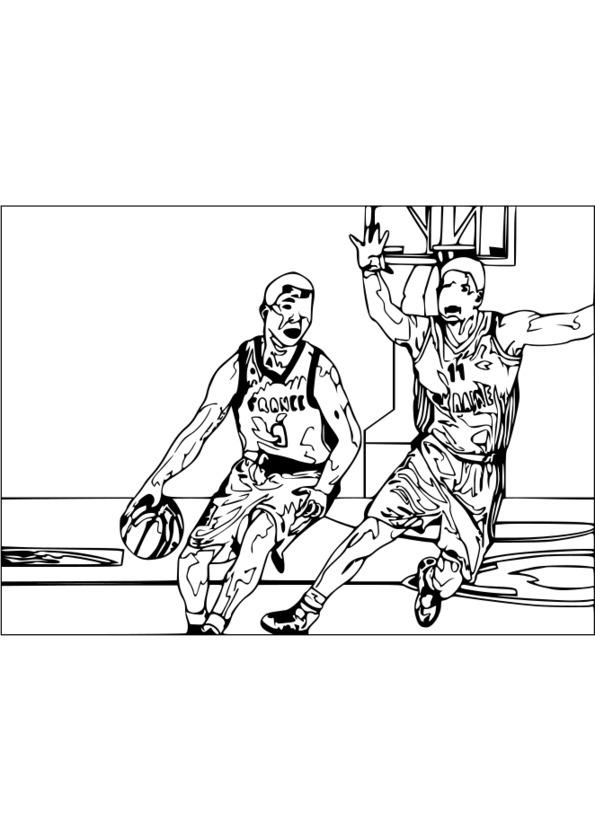 dessin à colorier de sportif