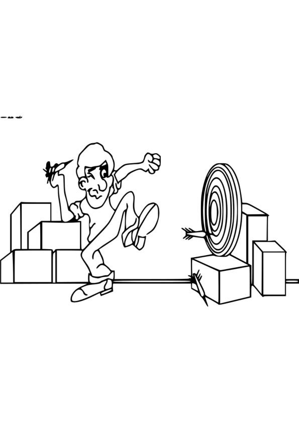 dessin humoristique sur le sport
