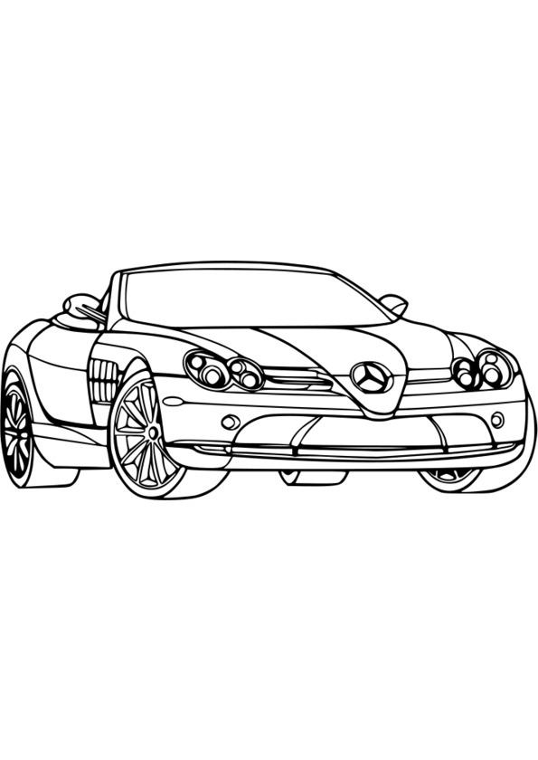 dessin à colorier de voiture de sport a imprimer gratuit