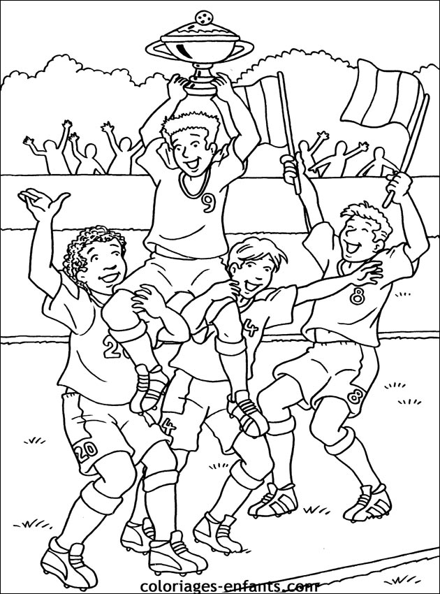 19 dessins de coloriage sports football imprimer imprimer - Joueur de foot a colorier ...