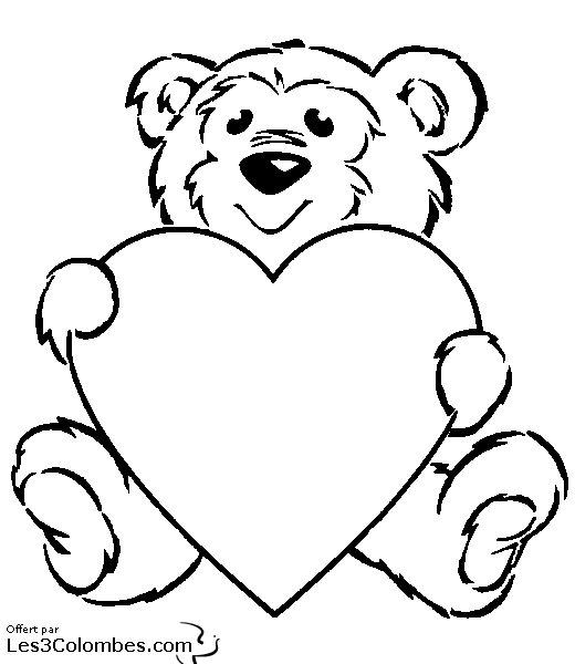 99 dessins de coloriage st valentin en ligne imprimer - Dessin de saint valentin ...