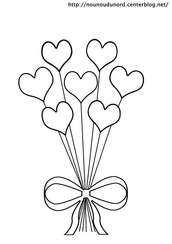 95 dessins de coloriage st valentin pour maman imprimer - Dessiner un bisou ...