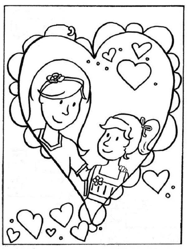 95 dessins de coloriage St Valentin Pour Maman à imprimer