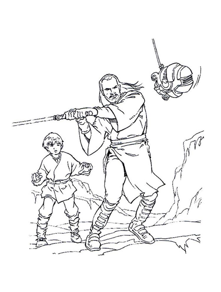 20 dessins de coloriage Star Wars Anakin à imprimer