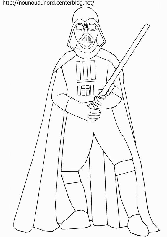19 dessins de coloriage star wars dark vador imprimer - Dessin facile star wars ...