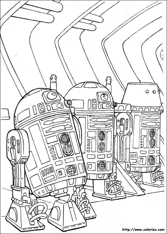 20 dessins de coloriage star wars r2d2 imprimer - Dessin a imprimer star wars ...