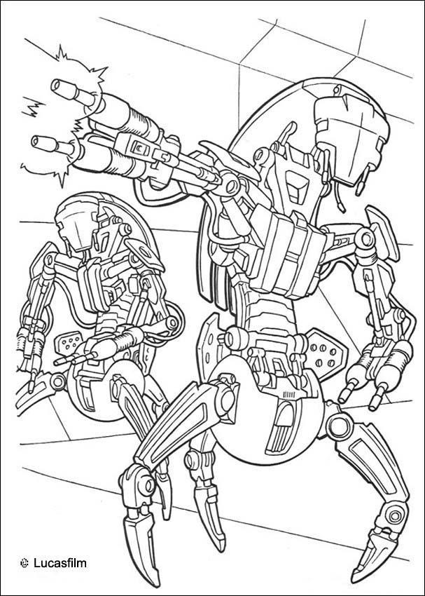 20 dessins de coloriage star wars vaisseau imprimer - Coloriage star wars yoda ...