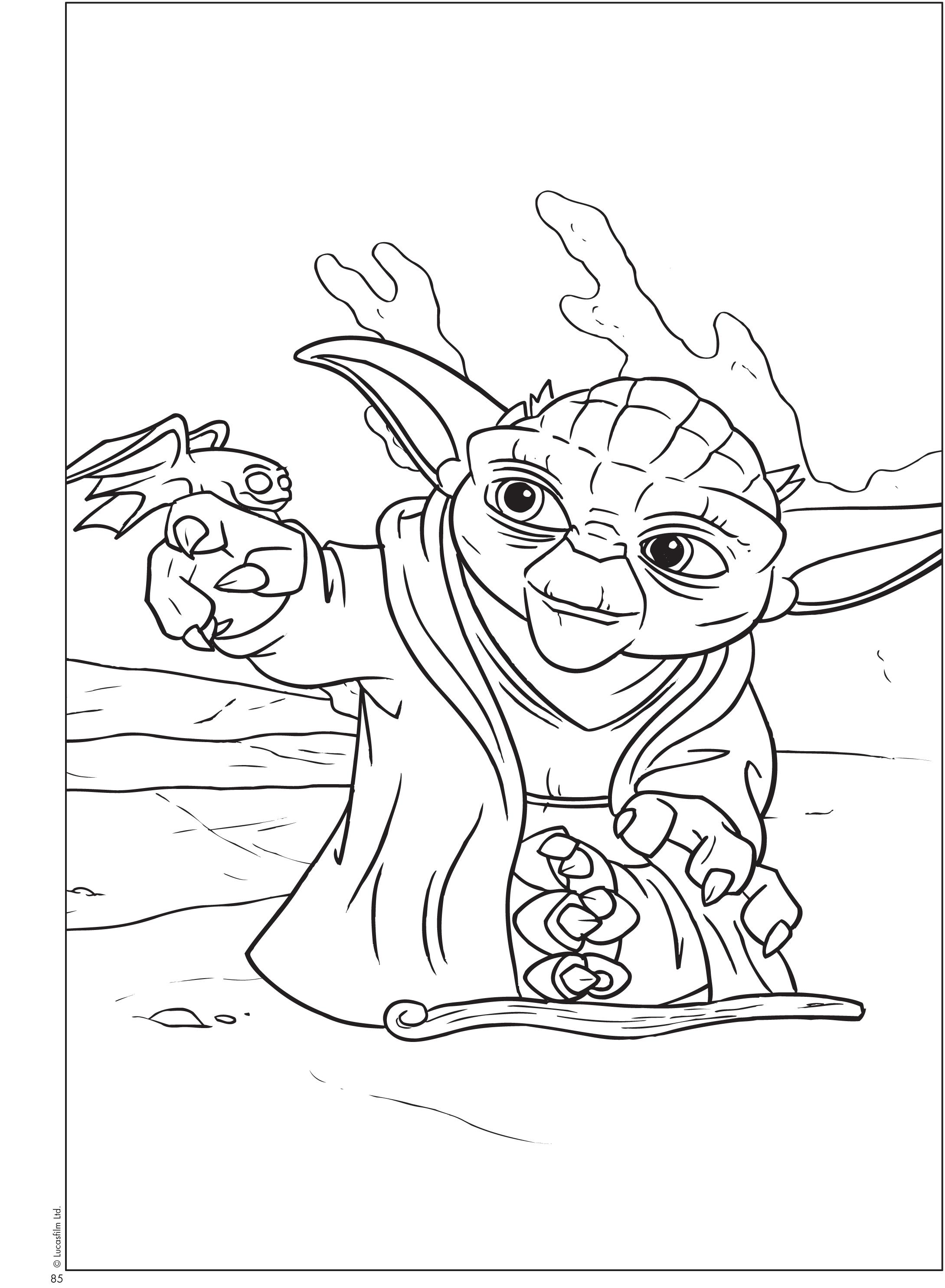 Coloriage Star Wars Yoda imprimer