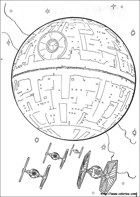 dessin star wars vaisseau