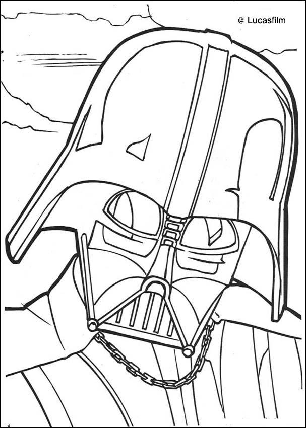 coloriage à imprimer star wars dark vador