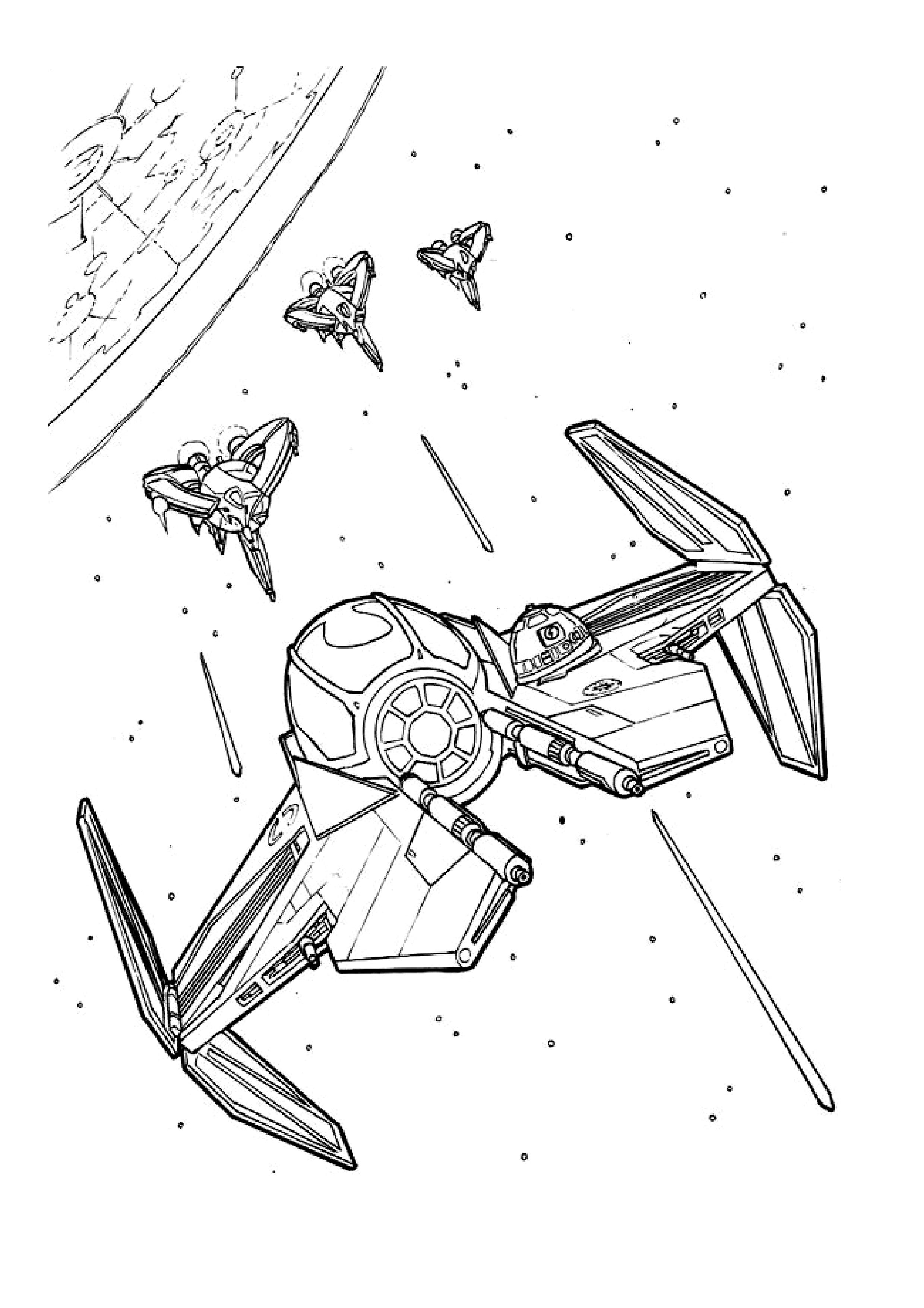 Imprimer coloriage dessiner star wars gratuit - Dessin a colorier star wars ...