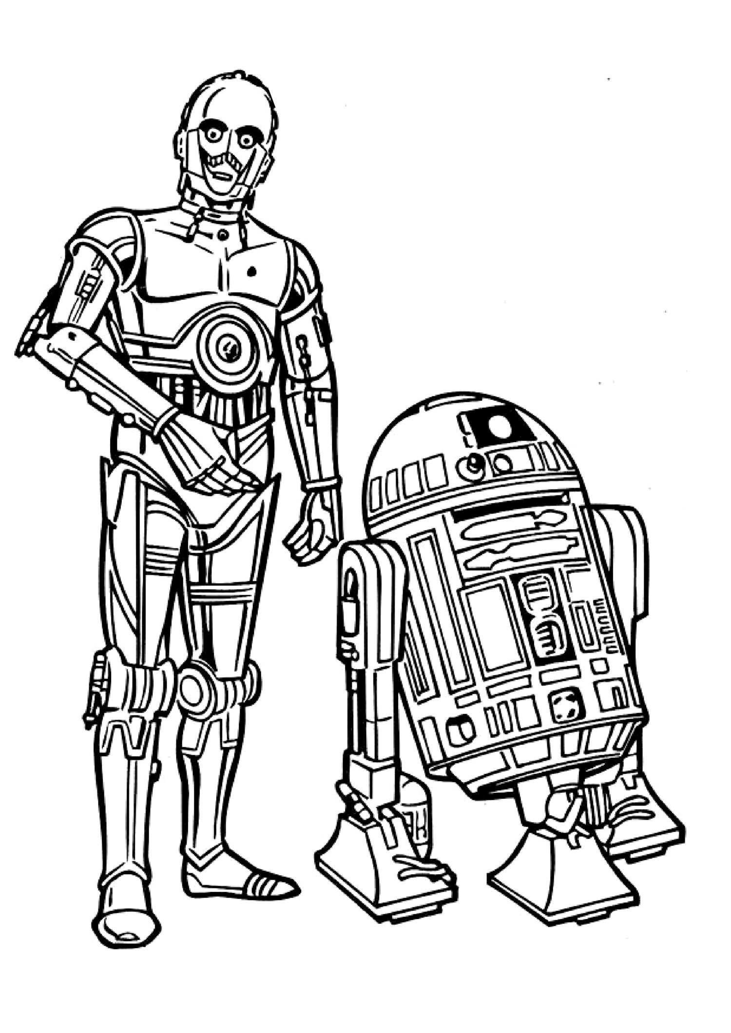 Coloriage   imprimer je dessine dessin star wars