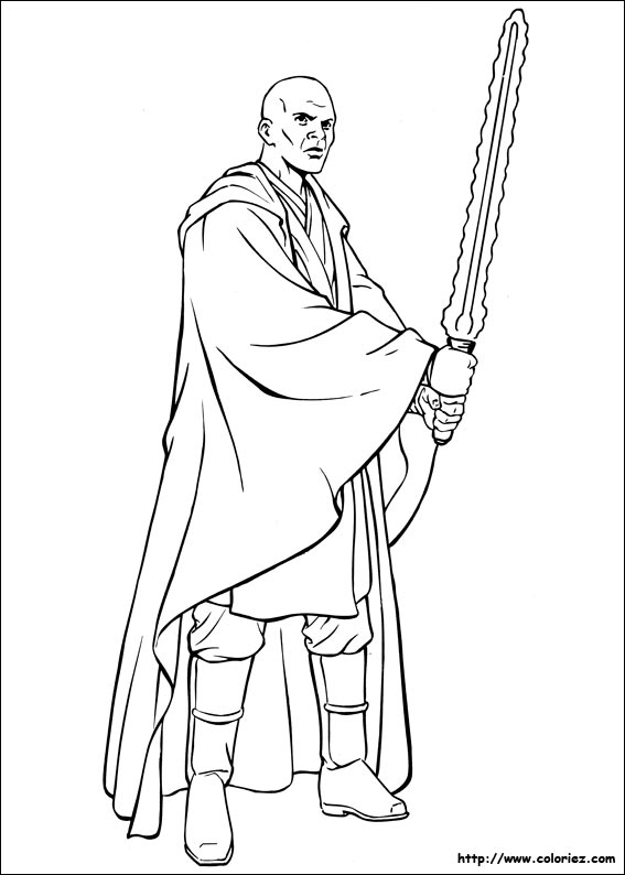 Coloriage dessiner star wars anakin skywalker - Coloriage star wars 3 ...