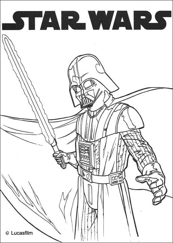 coloriage masque star wars