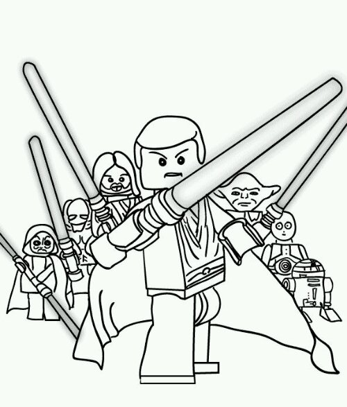Coloriage Star Wars 3 A Imprimer