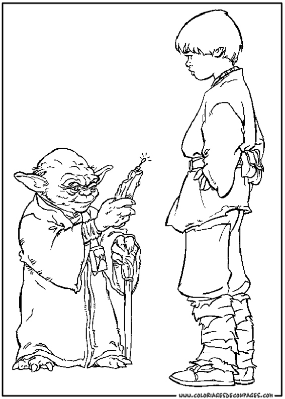 coloriage star wars page