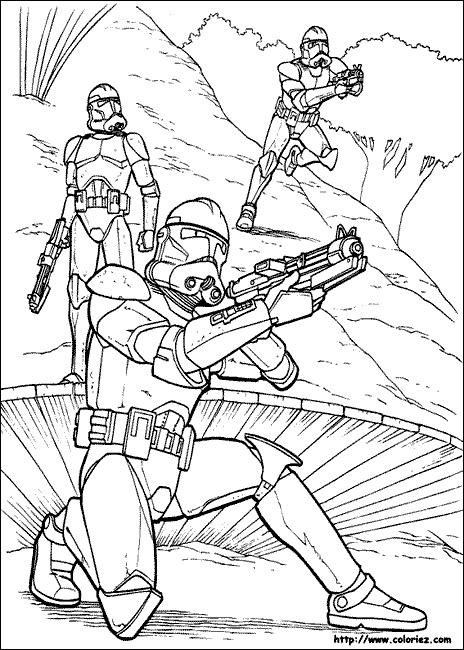 imprimer coloriage à dessiner star wars gratuit