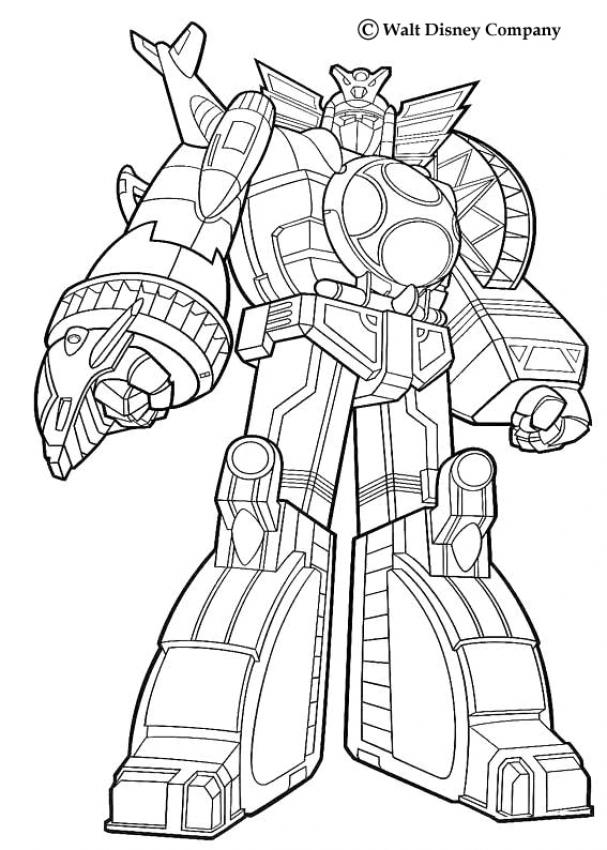 coloriage à dessiner real steel zeus