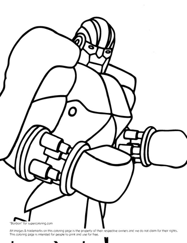 zeus real steel coloring pages | coloriage man of steel