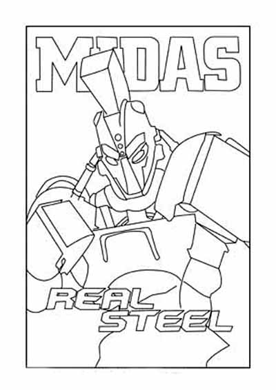 coloriage real steel a imprimer