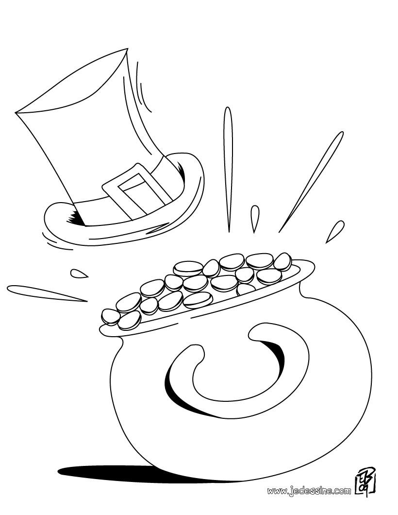 dessin à colorier pour st patrick
