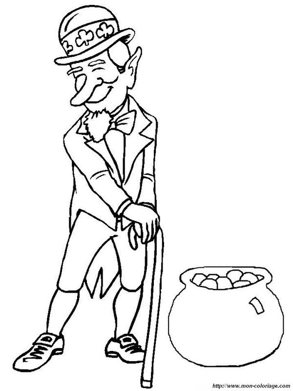 dessin à colorier st patrick