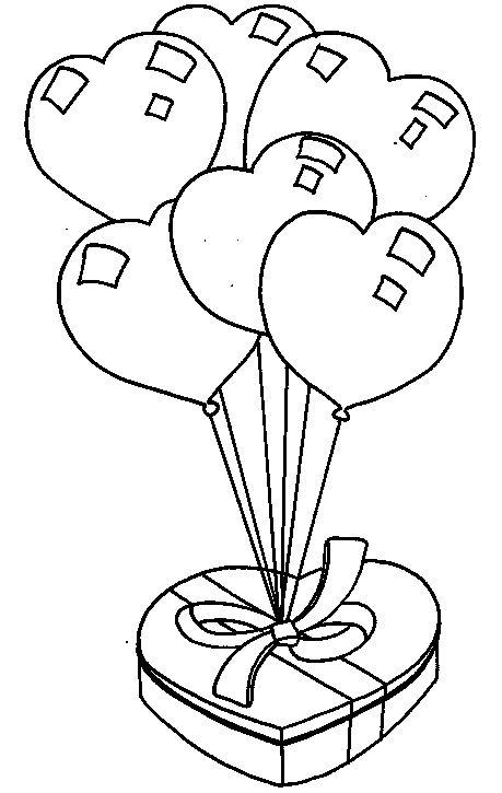 dessin à colorier a colorier st valentin