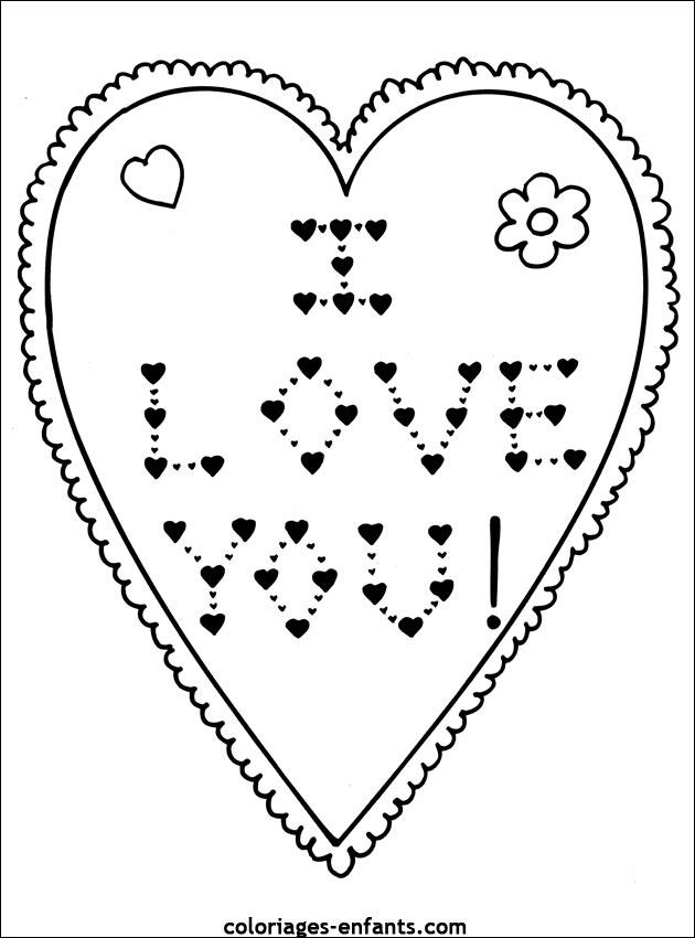 Coloriage st valentin coeur - Dessin avec des coeurs ...