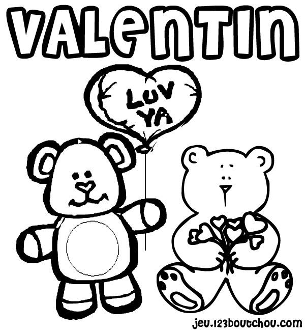 Coloriage Carte St Valentin A Imprimer