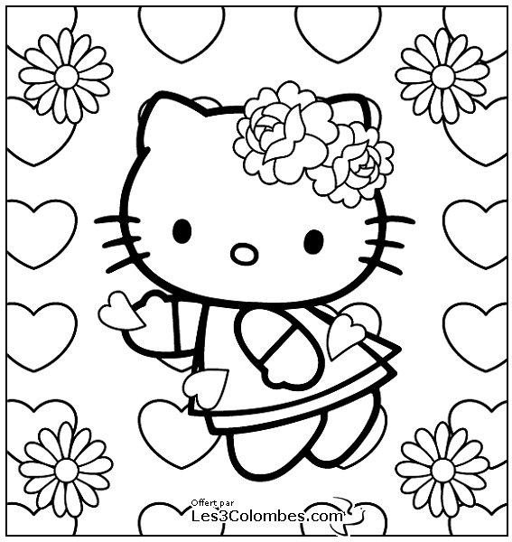 coloriage à dessiner de carte st valentin