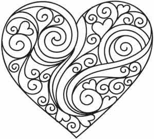 Coloriage st valentin coeur - Dessin de saint valentin ...