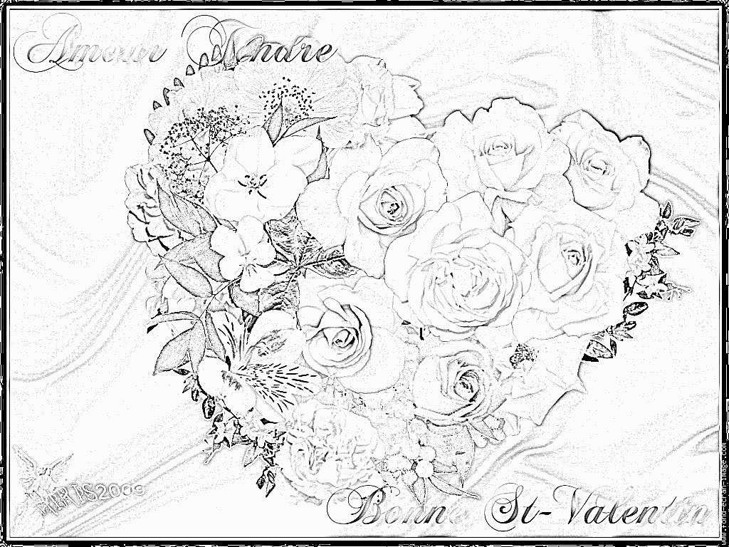 dessin ƒ colorier en ligne gratuit st valentin