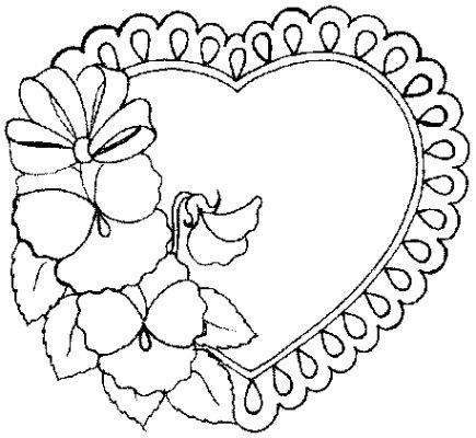 coloriage à imprimer st valentin