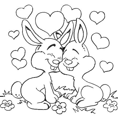 Dessin a colorier st valentin - St valentin dessin ...