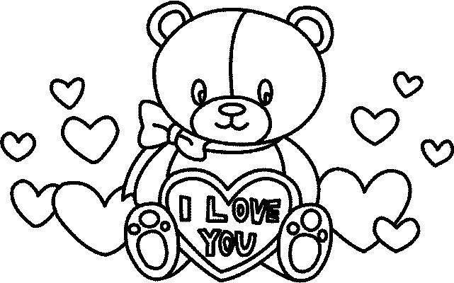 jeux de dessin à colorier st valentin