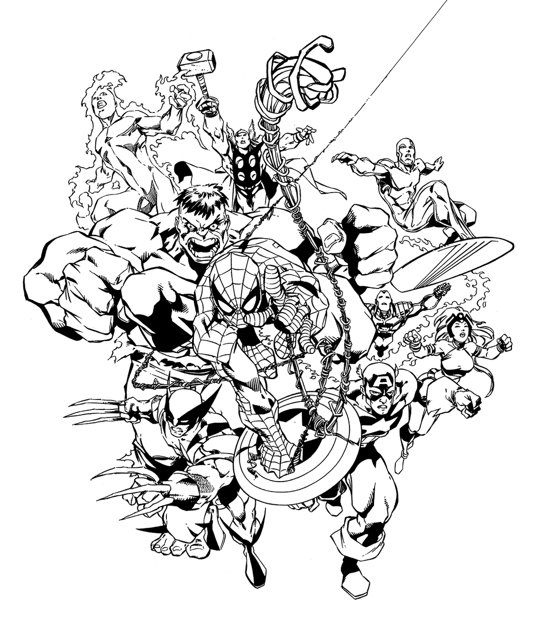 19 dessins de coloriage Super H ros