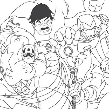 19 dessins de coloriage super h ros avengers imprimer - Dessin avenger a imprimer ...
