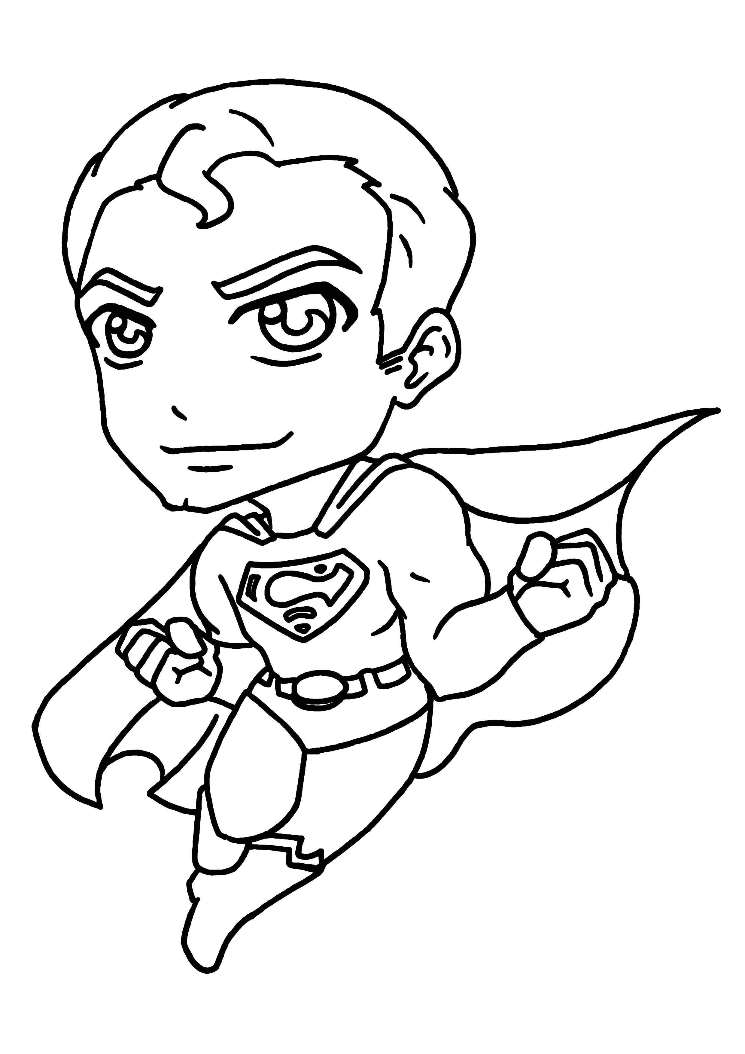 Élégant Dessin A Colorier A Imprimer Super Heros